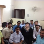 Jalima team with Marcela in India